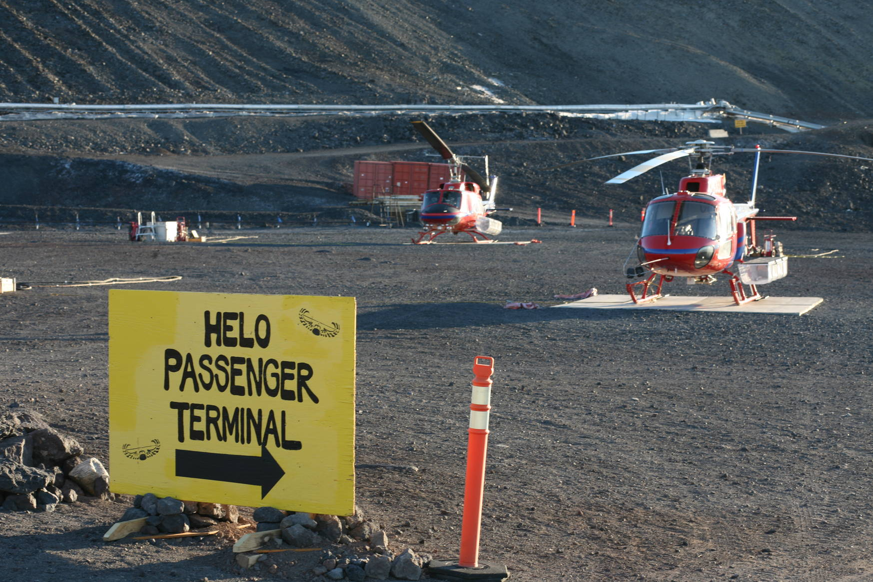 McMurdo's heliport.