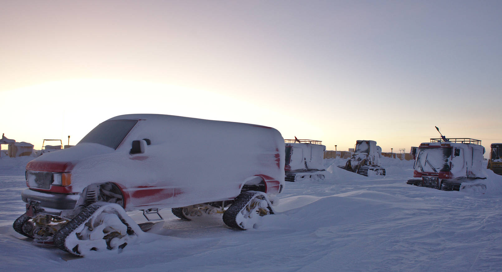The frozen race. These vehicles were parked outside all winter and will be soon made ready for the summer.