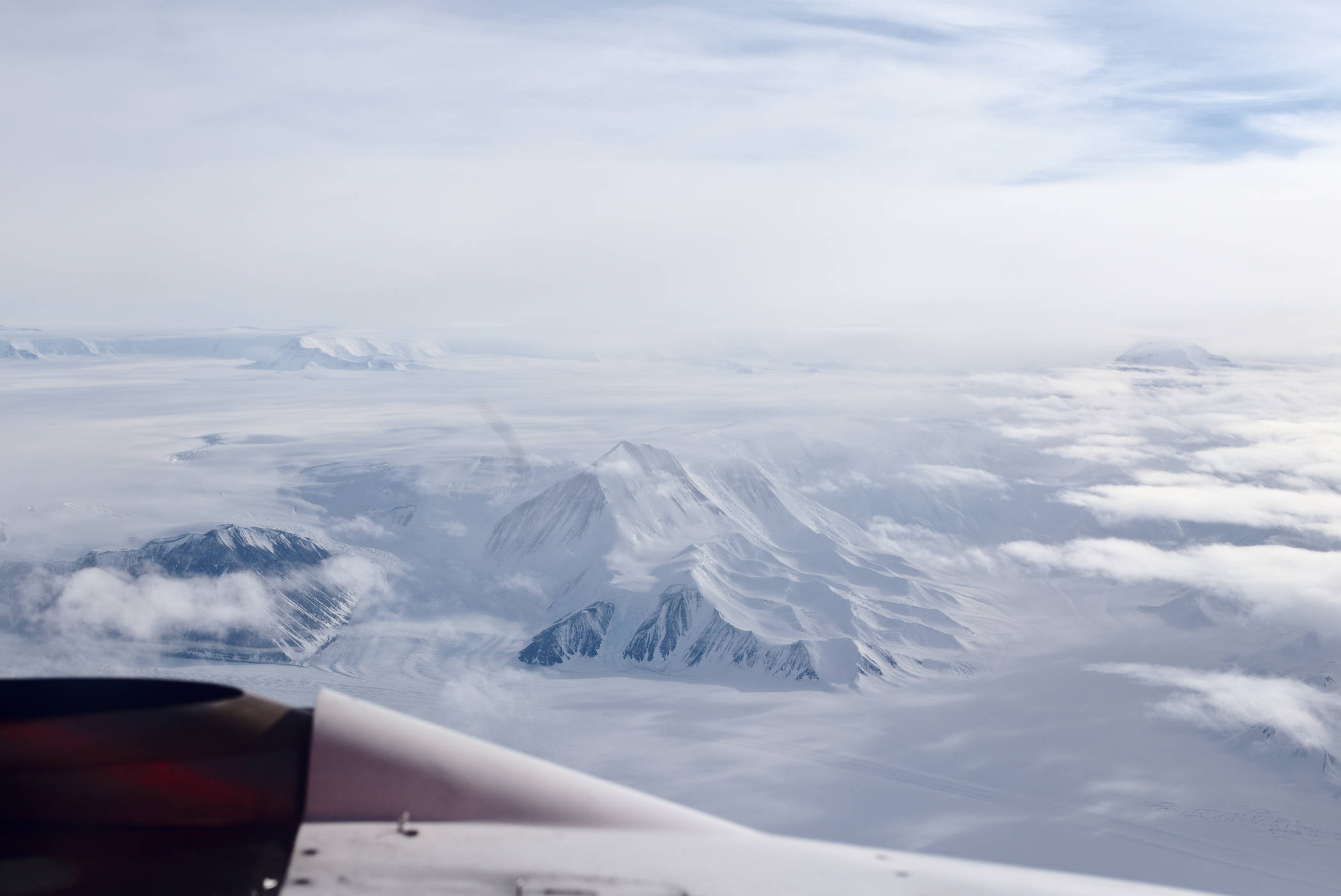 After two hours we finally reach the Trans-Antarctic mountains