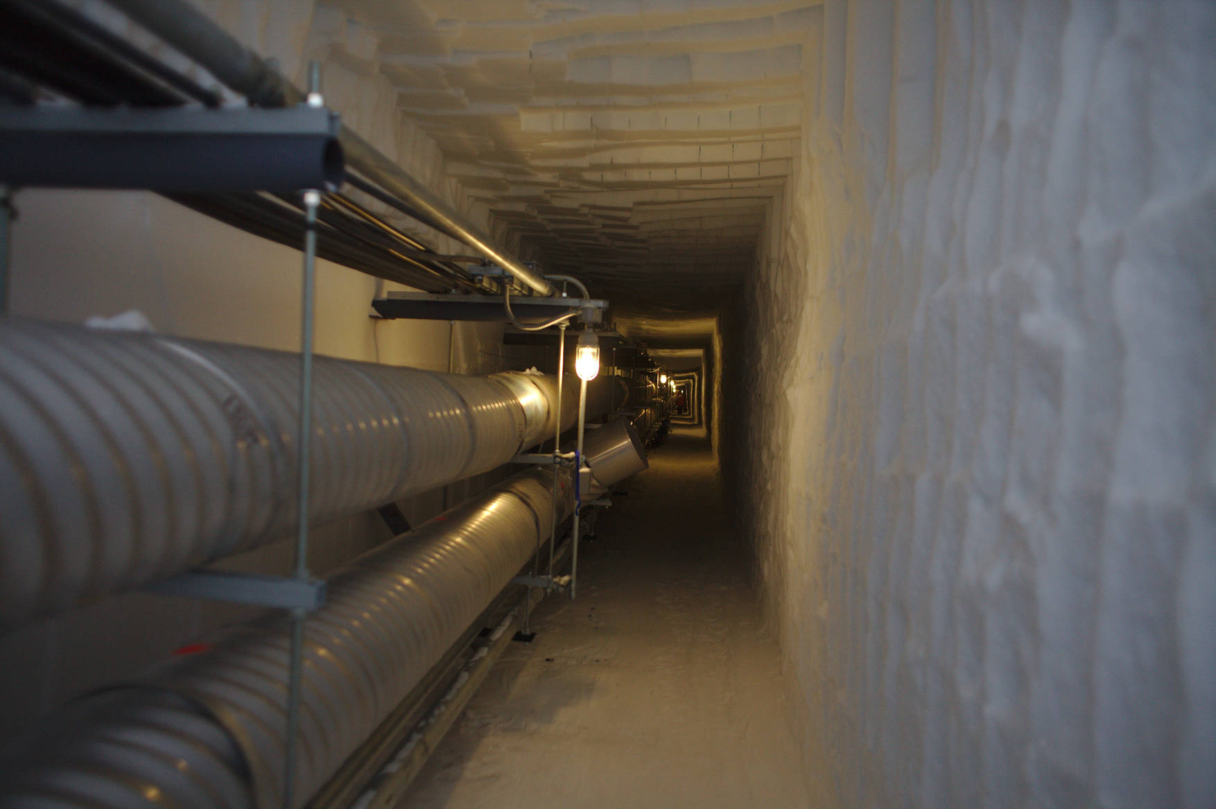 The ice tunnels are a network of underground corridors connecting the station to the Rod Well (our water well) and the sewer bulbs