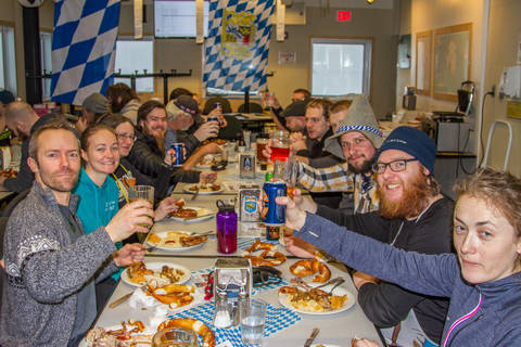 The 2017 wintercrew celebrating Oktoberfest (Photo: Robert Schwarz)
