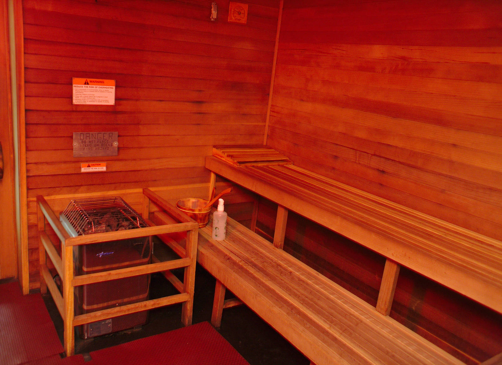 The warm and cozy south pole sauna.