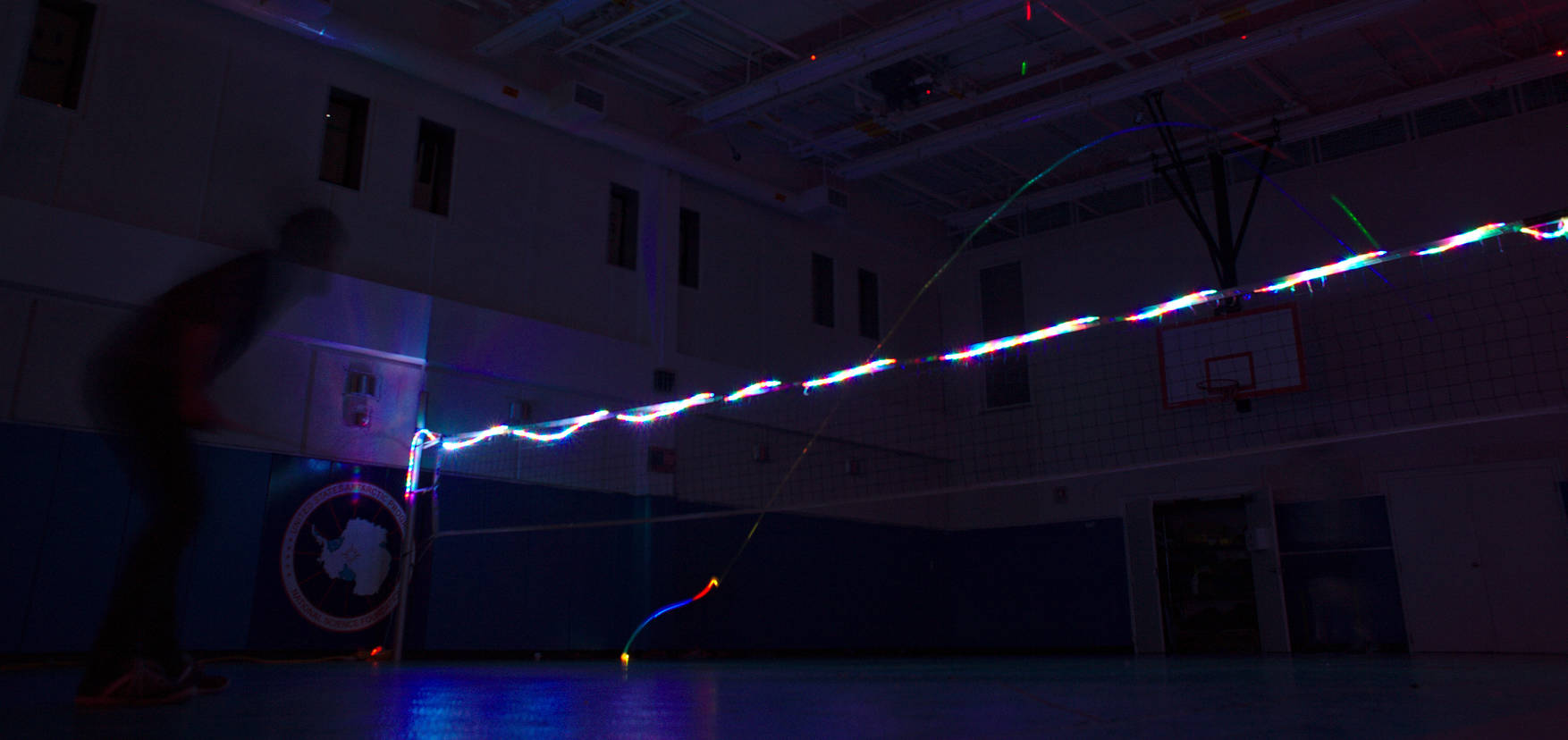 LED badminton in the dark